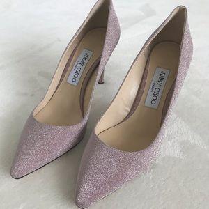 HP 🌸Jimmy Choo Romy 85 pumps in glittery pink